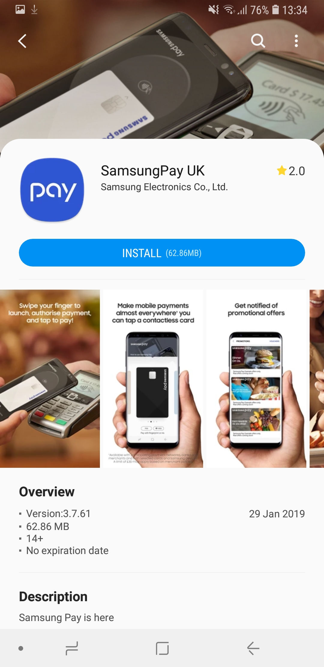 Solved: A7 2018 samsung pay not compatible - Samsung Community