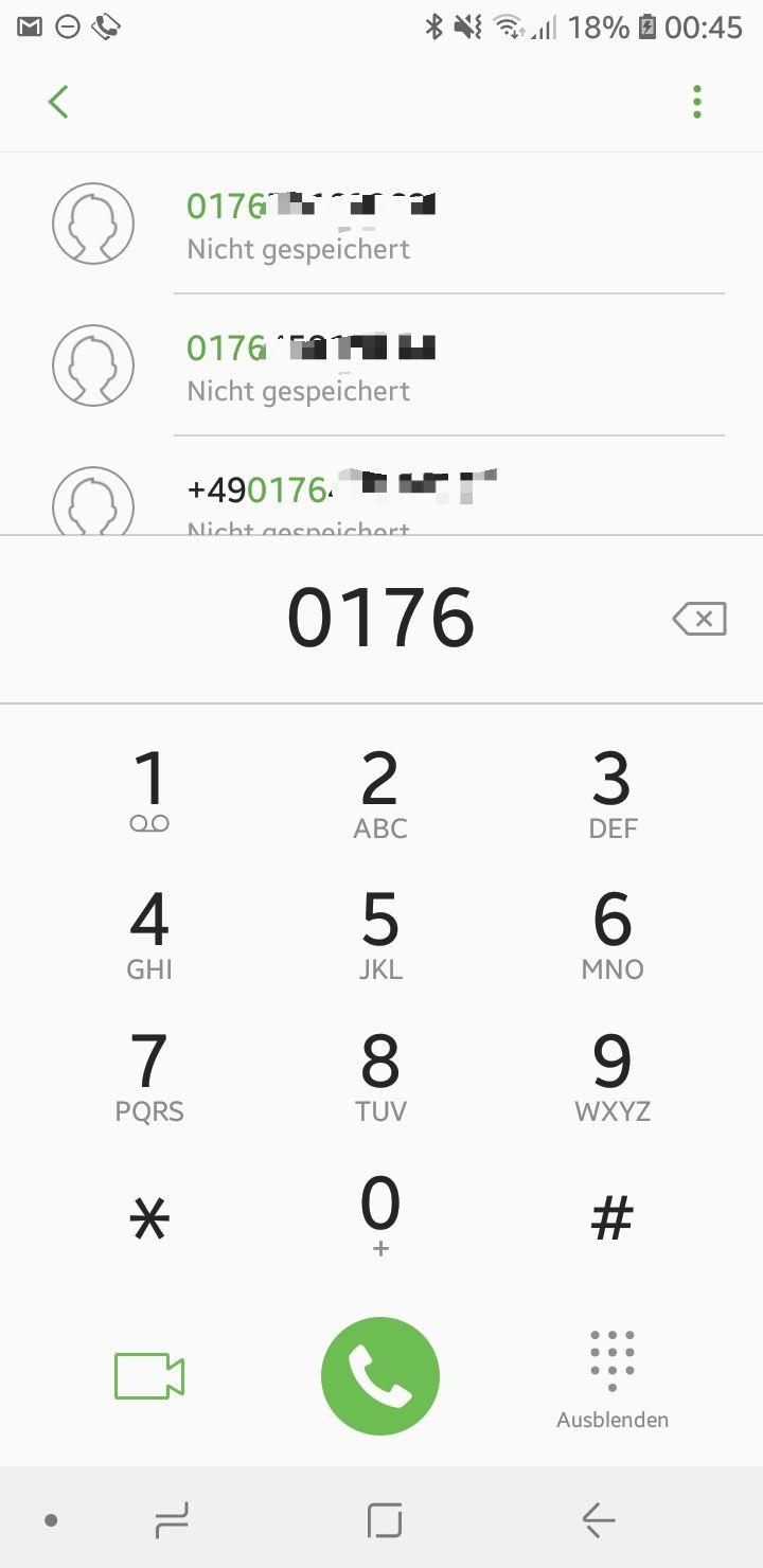 S7 Edge-Nicht gespeicherte Nummer löschen - Samsung Community