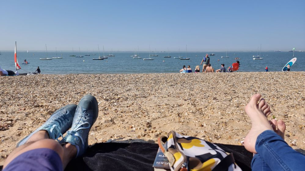 Relaxing by my local beach