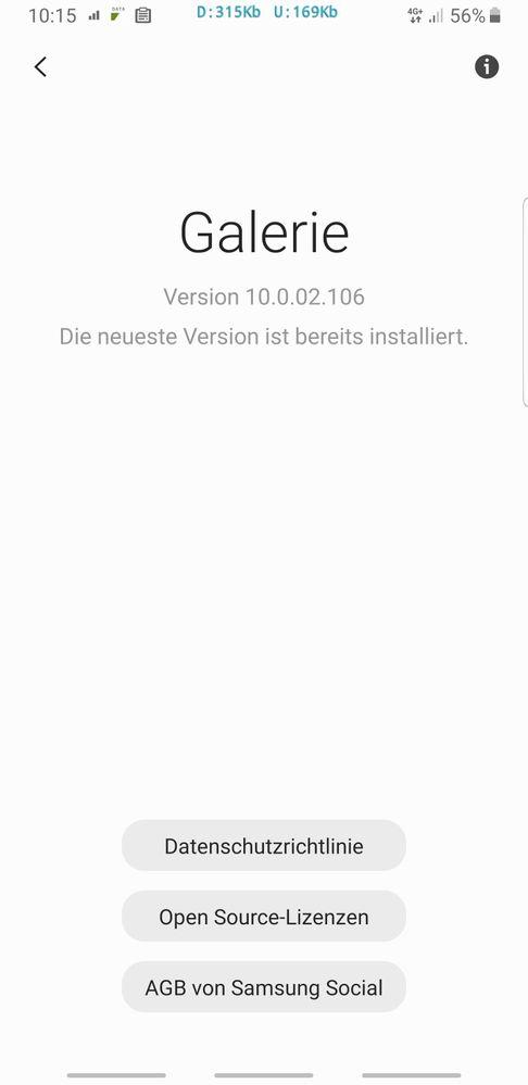 Gelost Galerie Lasst Sich Nicht Aktualisieren Samsung Community