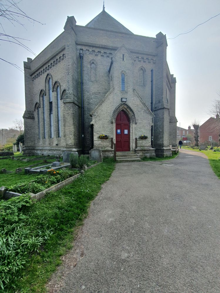 Local church and dead people.