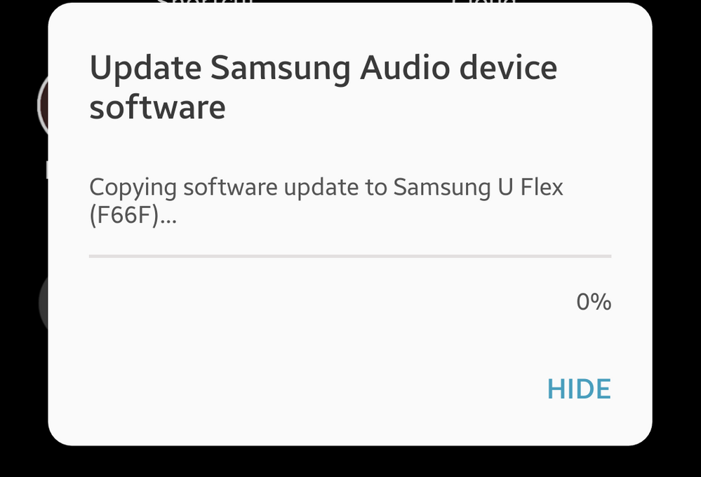 Solved: Can't update U Flex Headphone software - Samsung