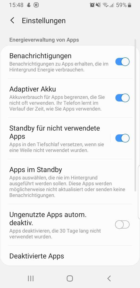 Android hintergrund apps benachrichtigung ausschalten