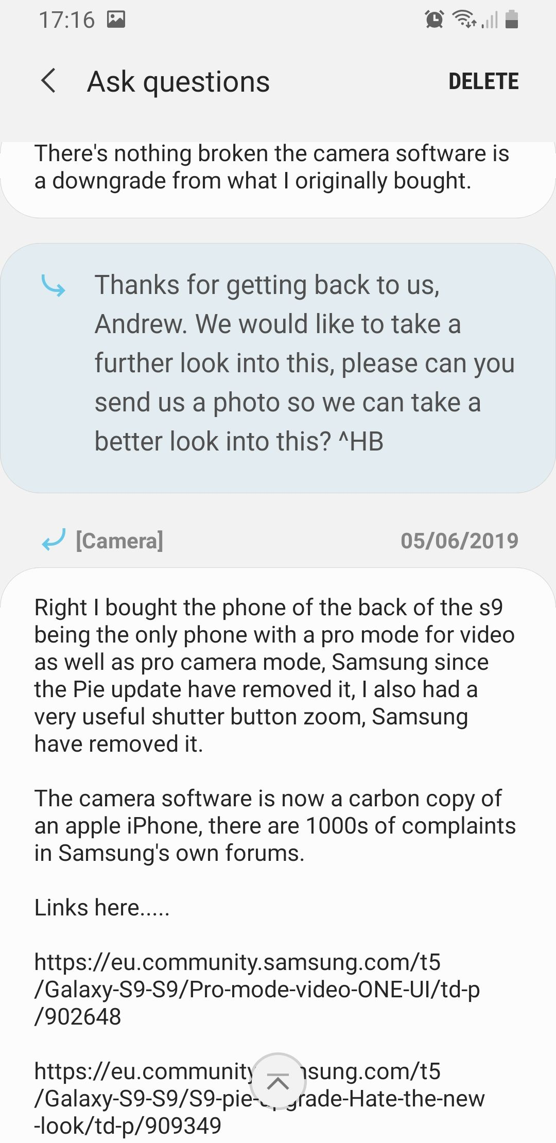 Pro mode video ONE UI - Samsung Community
