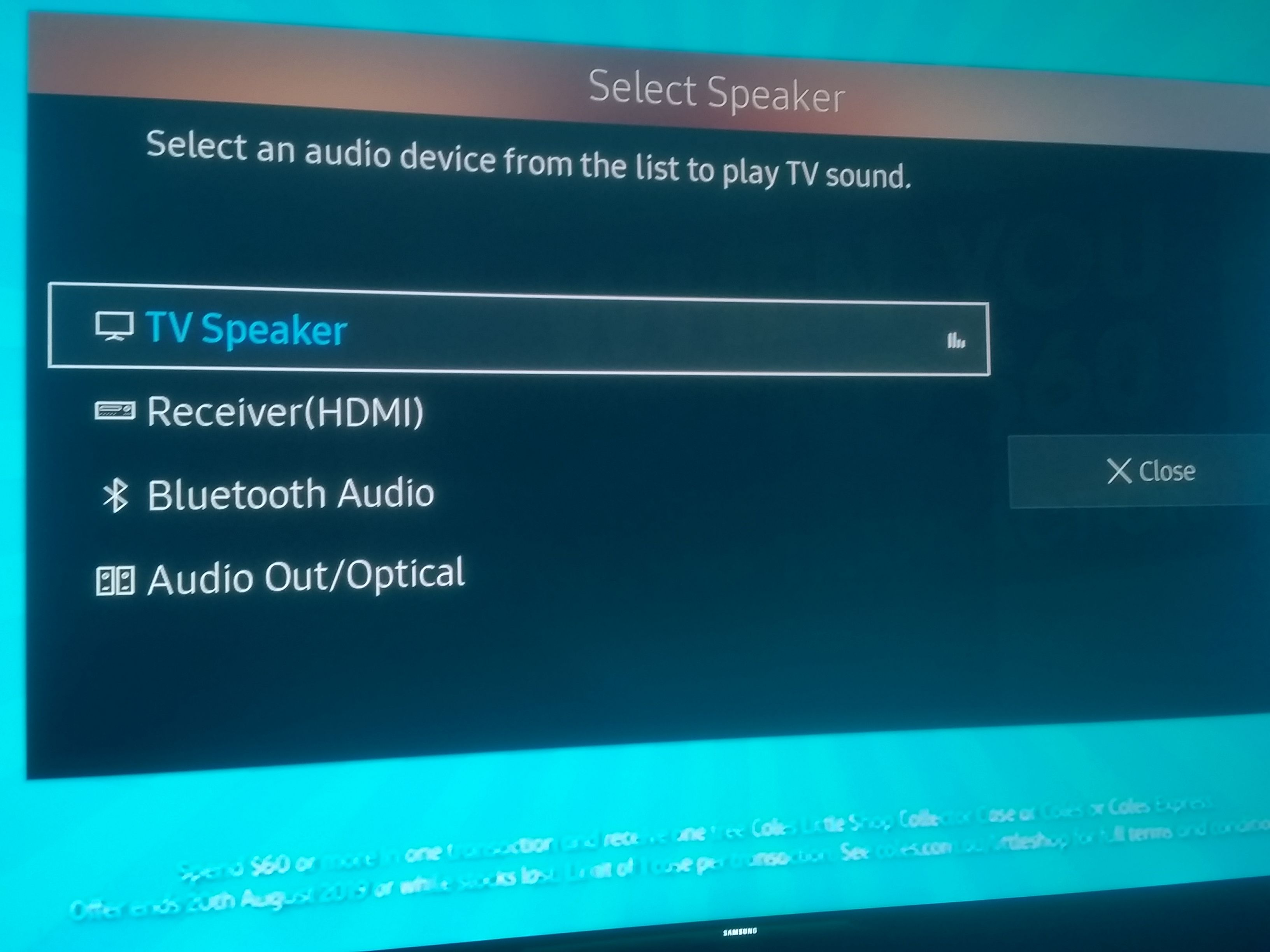 Digital TV sound through receiver speakers - Samsung Community