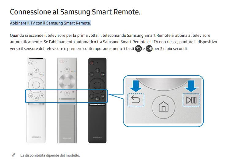 Risolto ue55mu6400 telecomando non funziona televisore for Telecomando smart tv