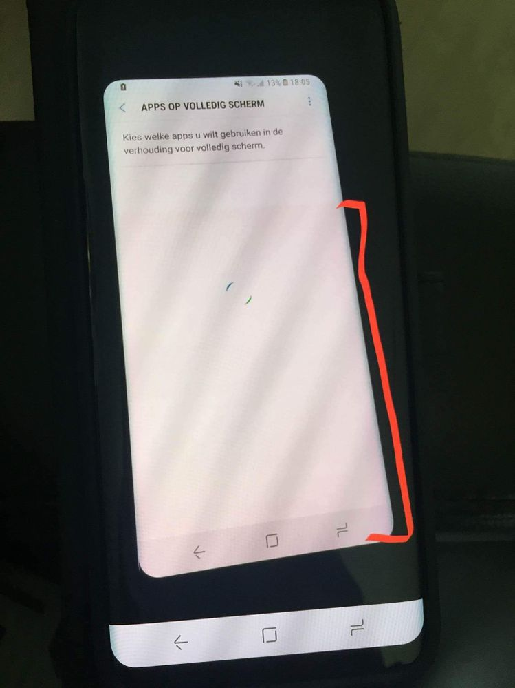 Part Of Screen Has A Red Tint Galaxy S8 Samsung Community