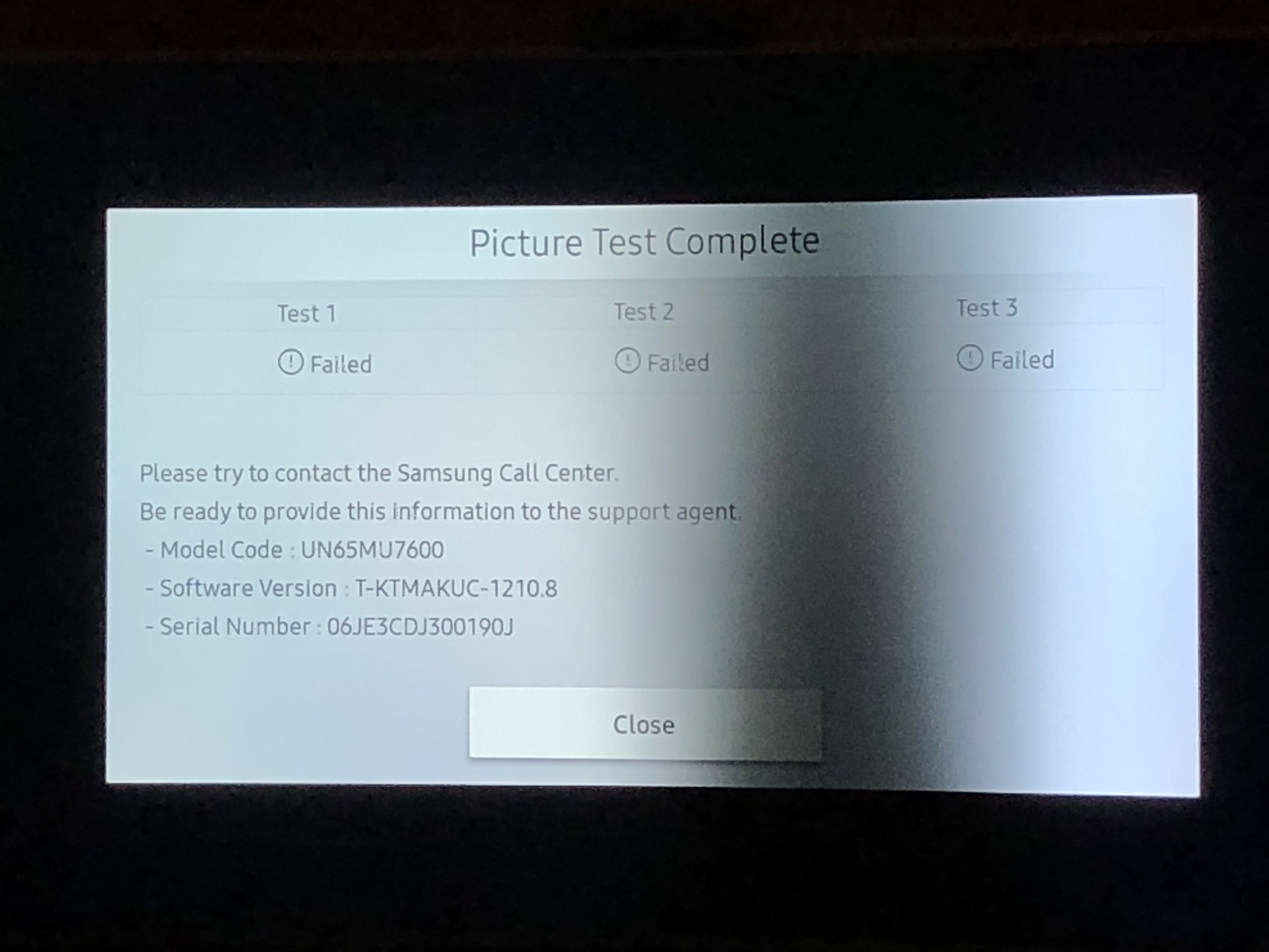 Solved Tv Screen Has Dark Section At Bottom Of Screen Samsung