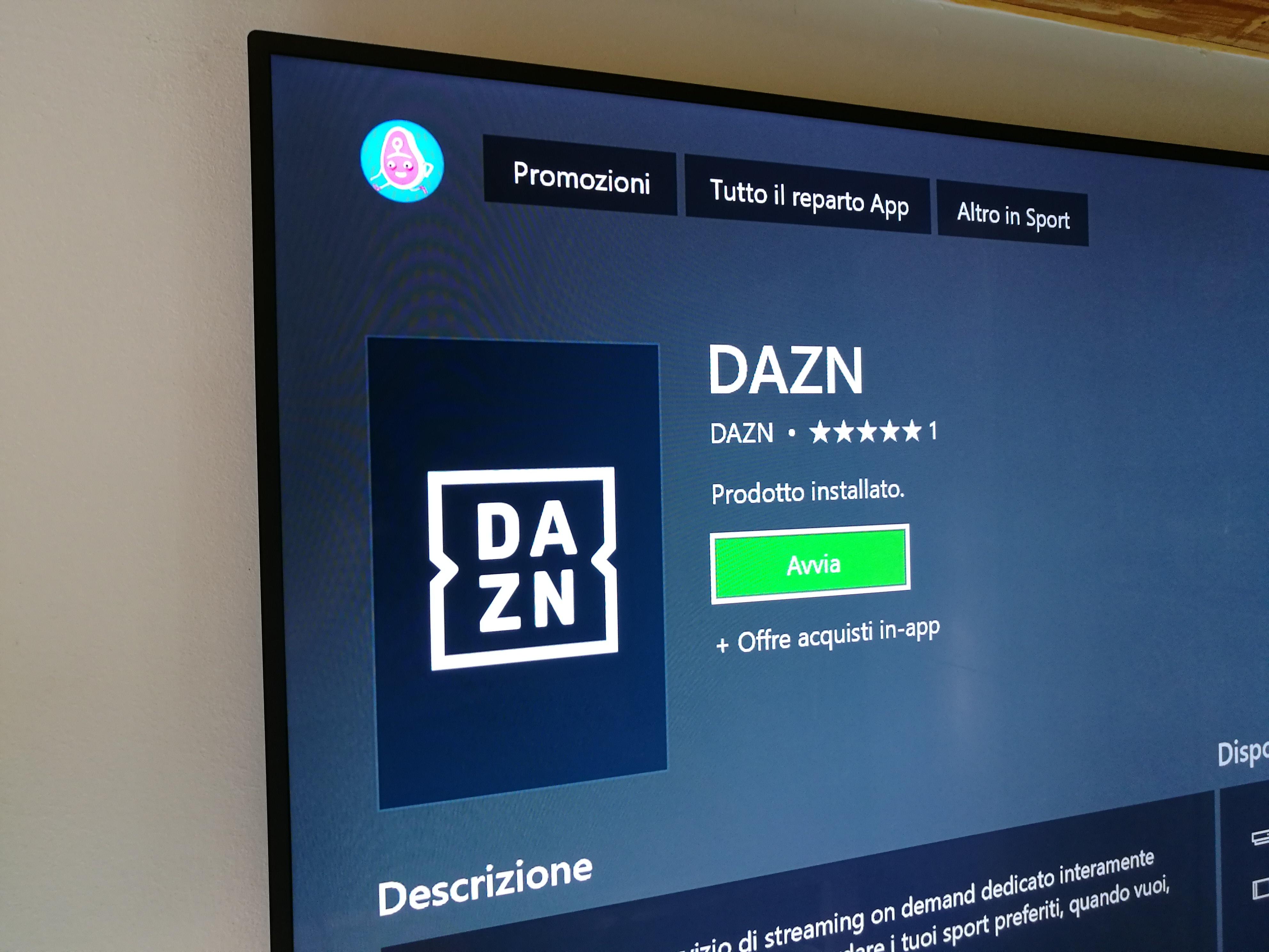 App dazn su smart tv samsung