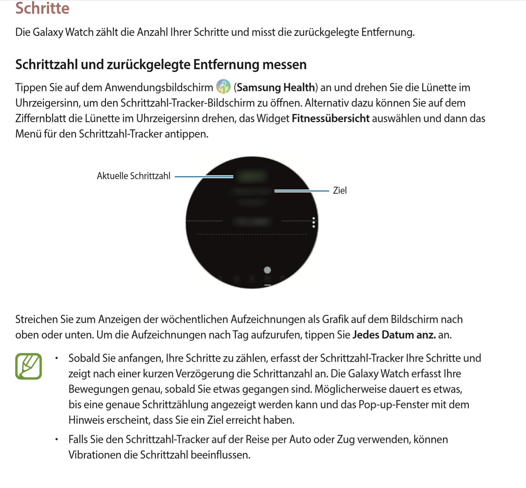 Schrittzähler Galaxy Watch Seite 6 Samsung Community