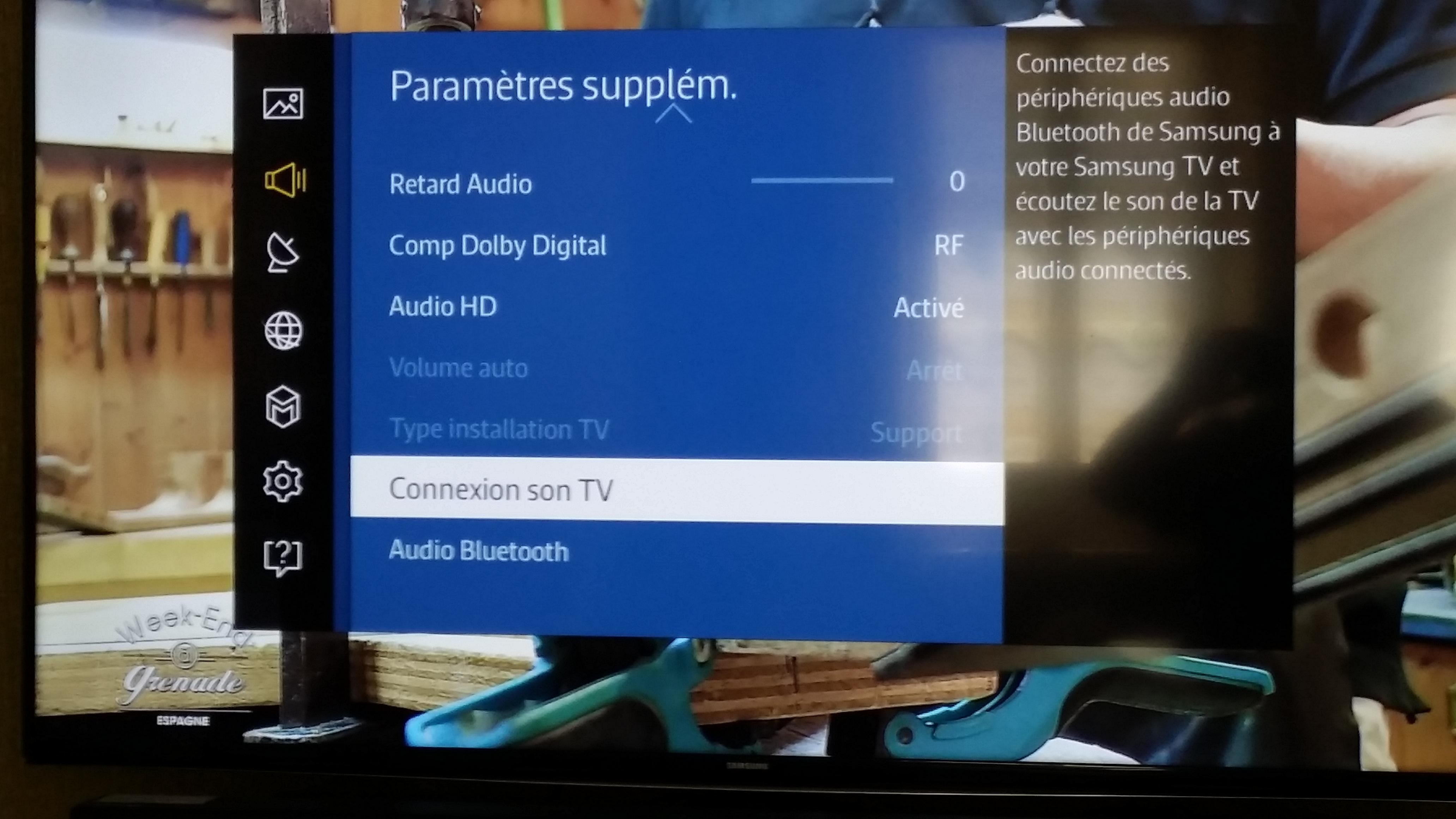 R solu connexion tv avec barre de son page 2 samsung - Meuble tv samsung avec accroche barre de son ...