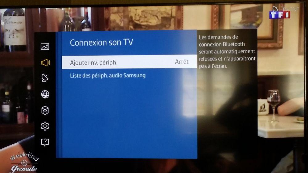 R solu re connexion tv avec barre de son page 2 - Meuble tv samsung avec accroche barre de son ...