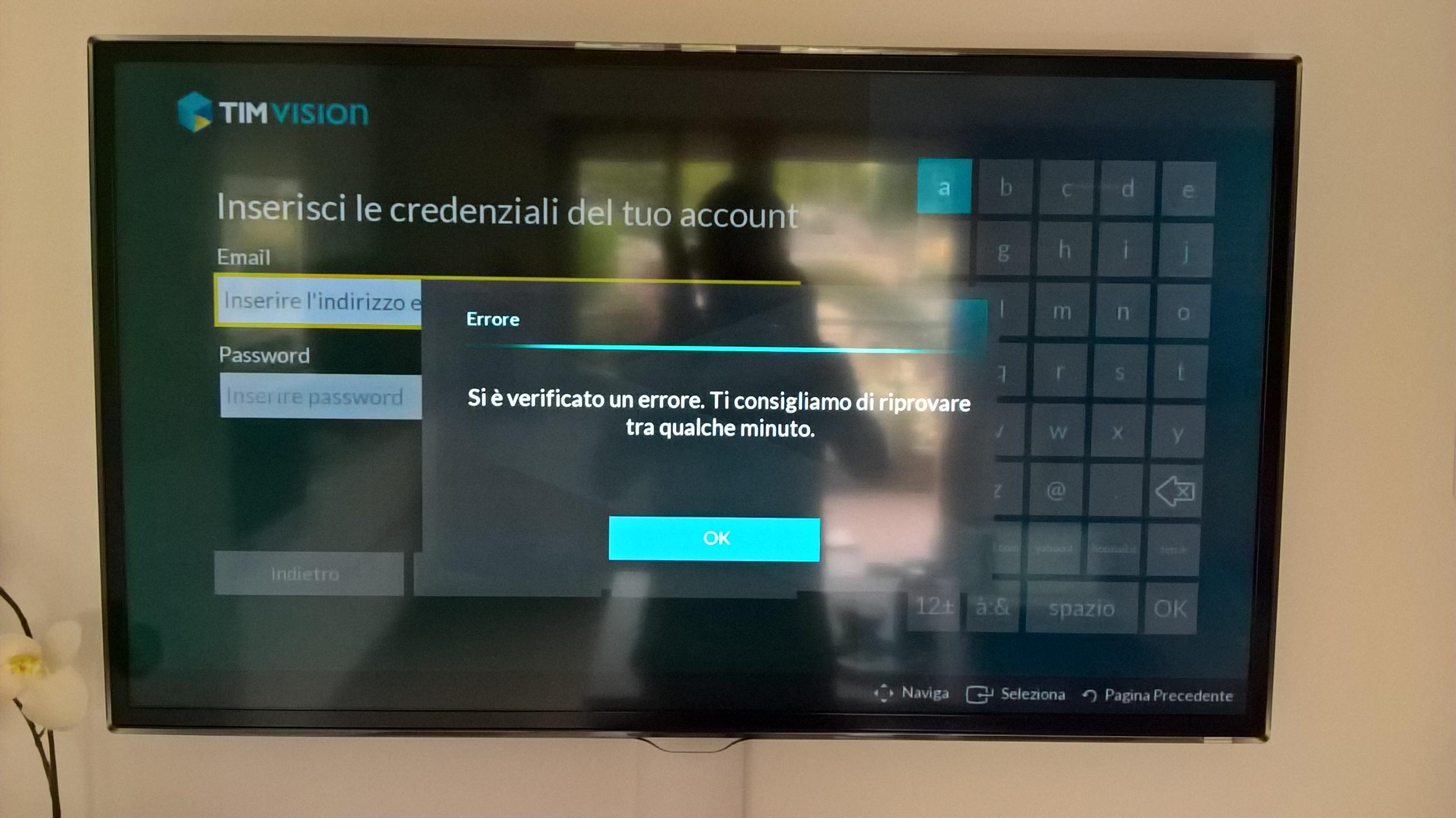 Timvision non si apre samsung community for Timvision app smart tv