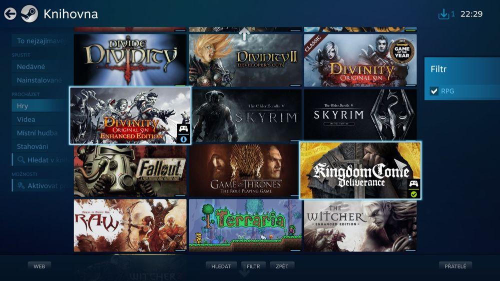 Steam Link - knihovna her.JPG