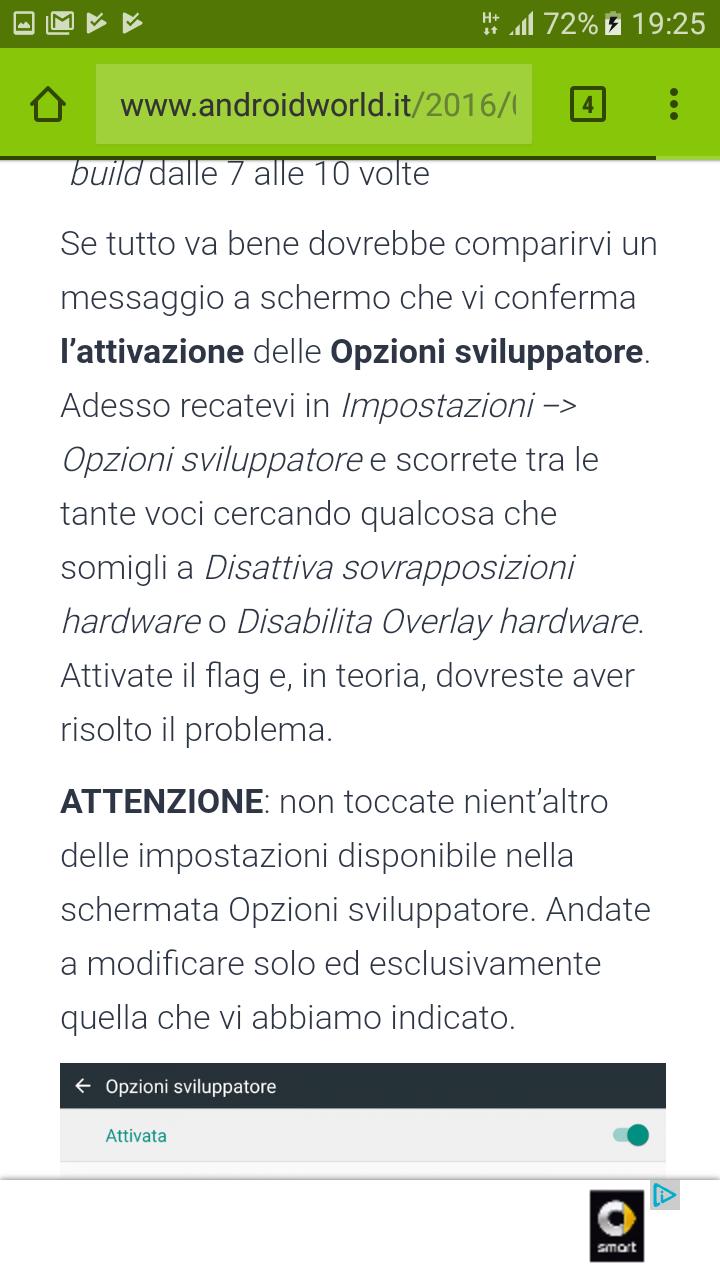 Overlay Schermo Rilevato Come Si Elimina Samsung Community