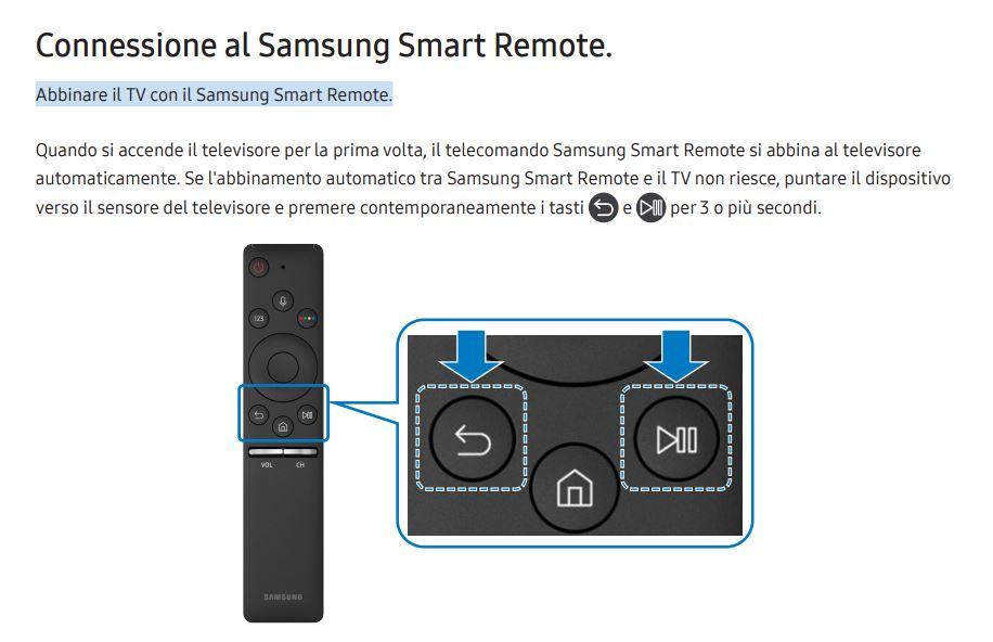 Risolto smart tv m5500 con telecomando smart samsung for Telecomando smart tv