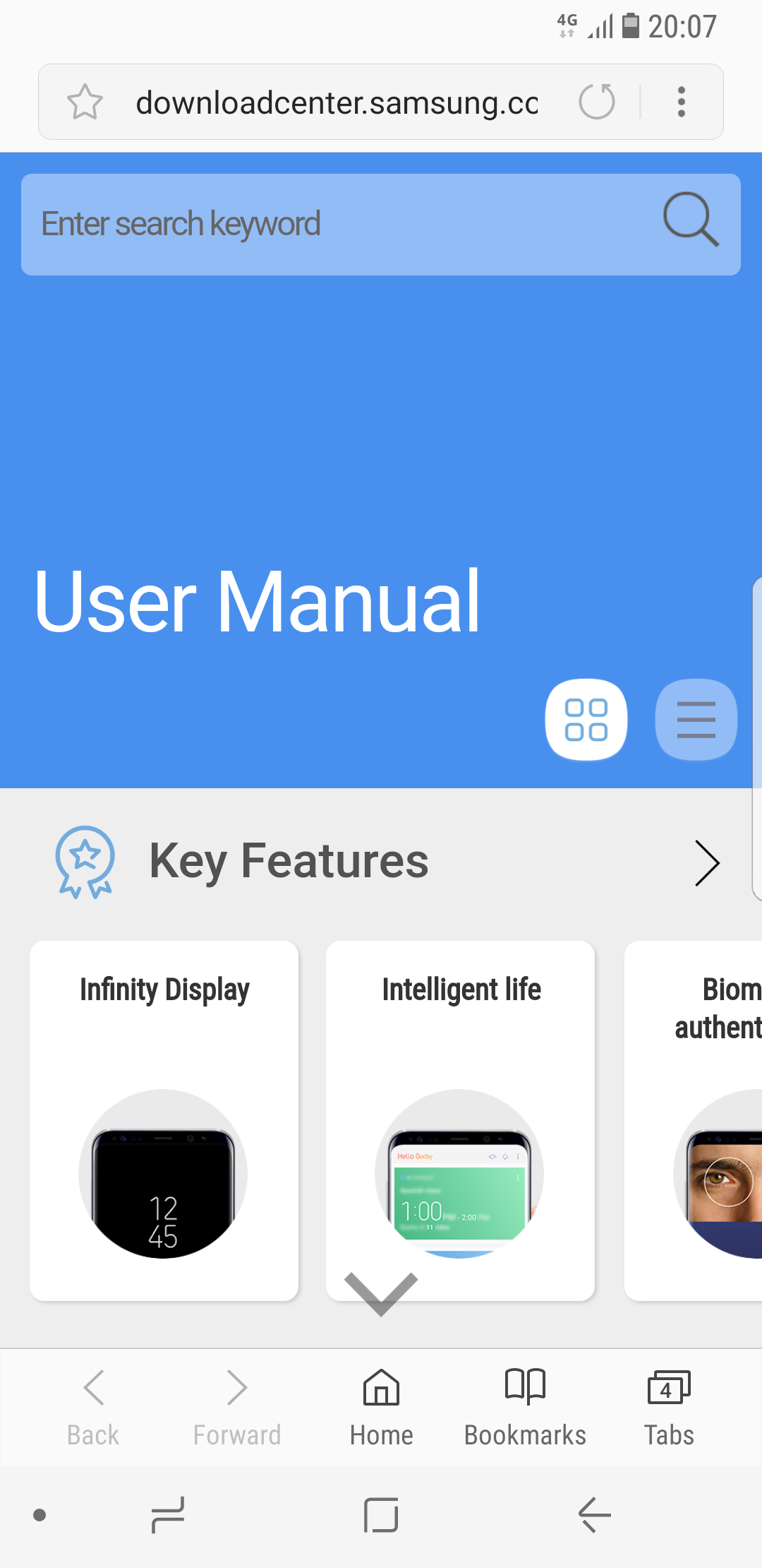user manual for samsung s8